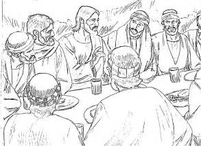 last supper coloring page holy thursday coloring pages
