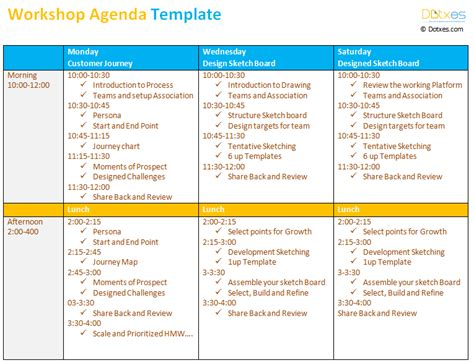 templates de agendas workshop agenda template to make your workshop better