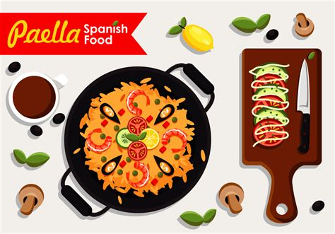 food vector paella food free vector stock