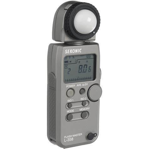 light meter for photography sekonic l 358 flash master meter silver b h photo video