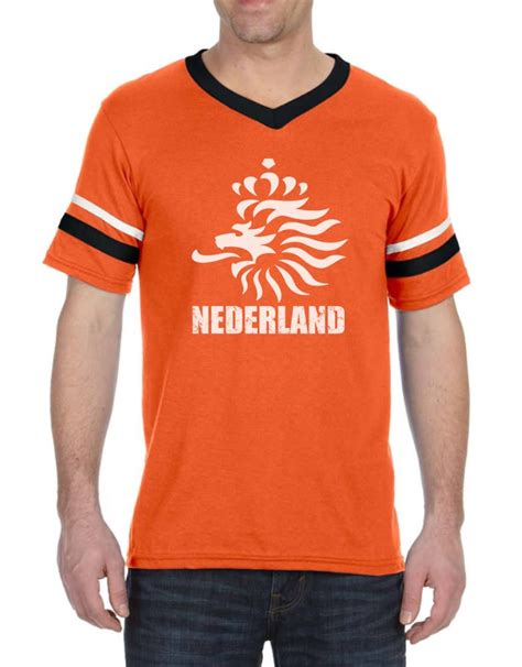 Tshirt Netherland netherlands football stripe t shirt soccer