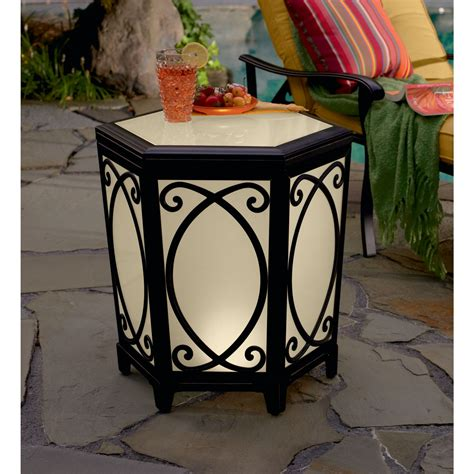 Lighted Table country living apc06210 highland lighted side table