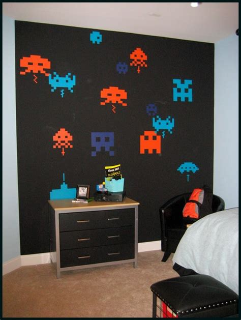video game themed bedroom ideas space invaders bedroom modern kids atlanta by