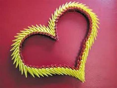 3d Hearts Origami - origami 3d corazon pasos imagui