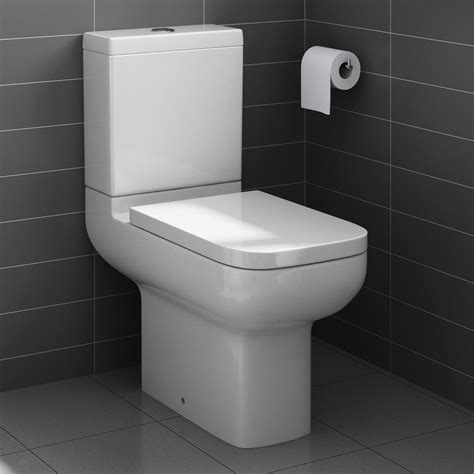 square toilet square short projection close coupled toilet pan cistern