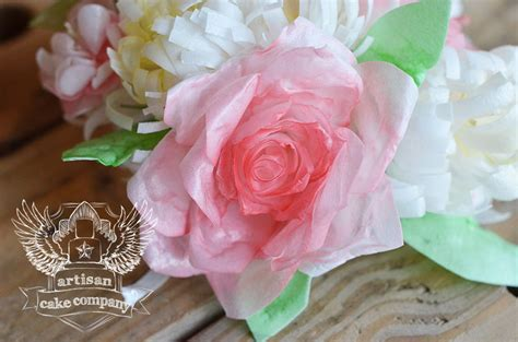 How To Make Edible Wafer Paper Flowers - how to make wafer paper flowers artisan cake company