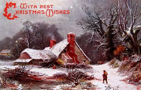 christmas pastoral evoking currier ives  early  flickr