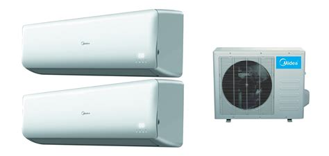 Ac Midea midea 2x18000 btu dual zone 16 seer inverter mini split heat ac hvac opa locka