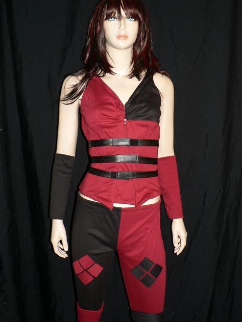 Handmade Harley Quinn Costume - made harley quinn costume batman arkham asylum by