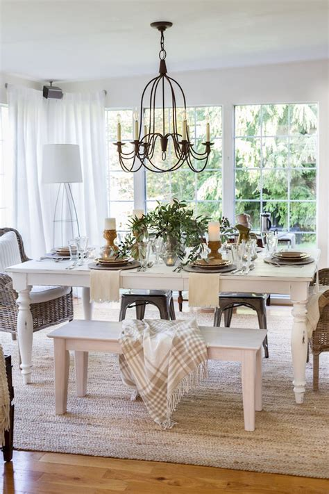 large casual table  sunroom french country dining