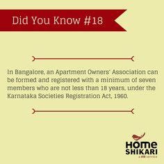 Registration Of Apartment Owners Association In Karnataka When Buying A Property It Is Advised To Acquire An