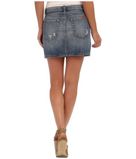 joes japanese denim high rise mini skirt in miyako