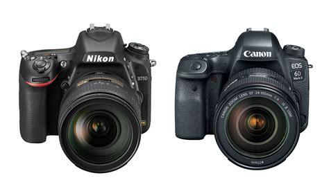 nikon vs canon specs comparison nikon d750 vs canon 6d ii