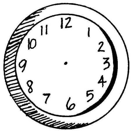 Coloriages D Objets Horloge
