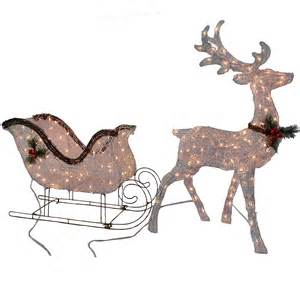 outdoor lighted reindeer decoration patio lawn garden gifts library