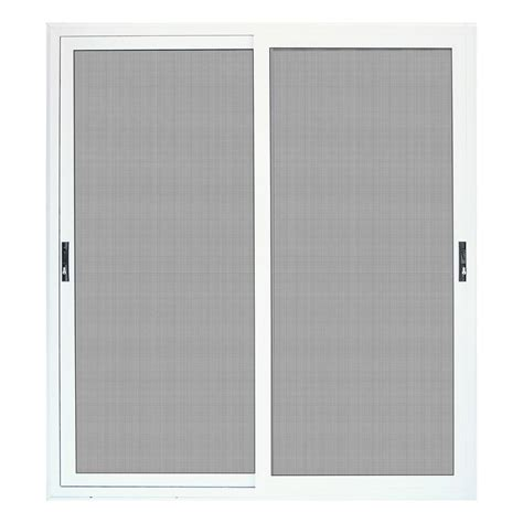 Screen For Patio Doors Unique Home Designs 72 In X 80 In White Sliding Patio Meshtec Ultimate Screen Door