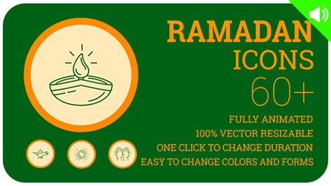 template after effects ramadan ramadan icons holiday icons special events after