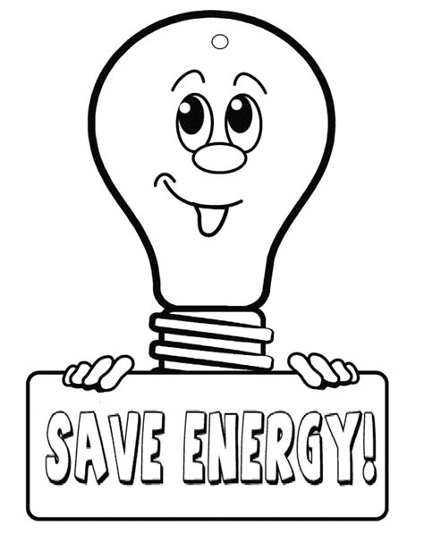 Coloring Pages Energy For Kids Drawing Colour Games L