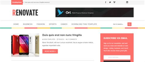 blogger download renovate blogger template free download adterian