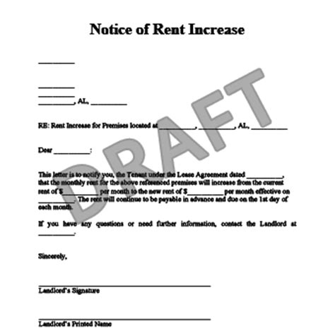 rent increase letter a letter to your landlord allows a chance