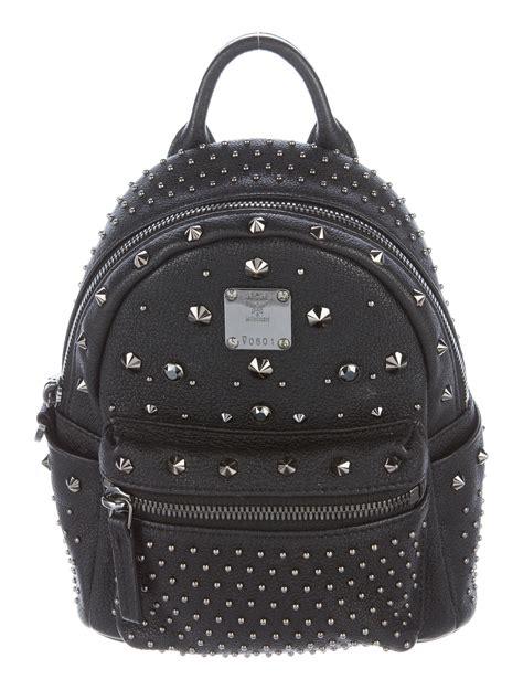 Mcm Stark Bebe Boo Backpack Mini mcm x mini stark bebe boo studded backpack handbags w3021343 the realreal