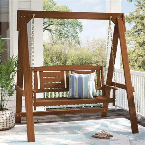 langley street arianna hardwood hanging porch swing