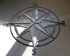 nautical compass wall metal decor by