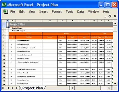 Project Plan Template Excel Peerpex Project Management Plan Exle