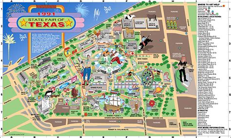 state fair texas map the state fair of texas 1991