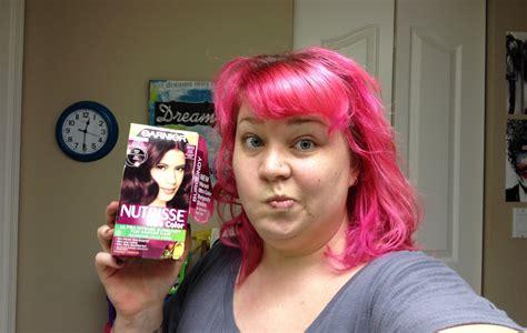 The hair dye test garnier deep intense burgundy for darker hair br3