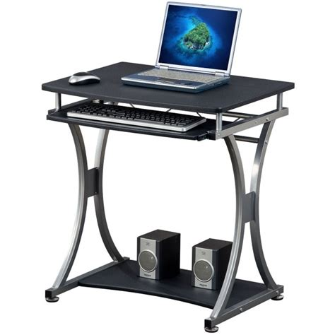 scrivanie per pc scrivania per pc compatta con cassetto estraibile nero