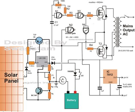 inverter battery charger circuit diagram how to make a solar inverter circuit