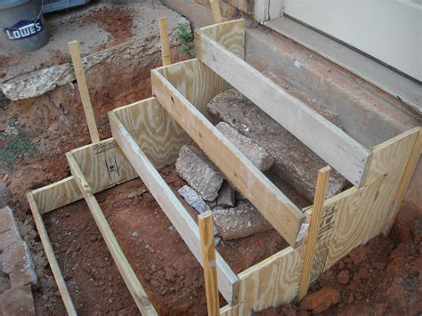 Building Concrete Steps How To how to make concrete steps bug s how to make concrete stairs garage workshop