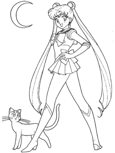 sailor moon printable coloring pages coloring