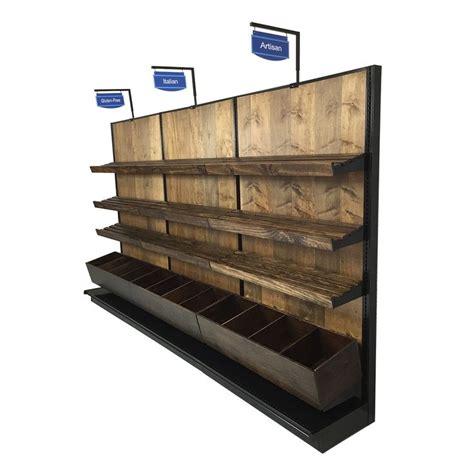 bread display racks single sided wood gondola shelf kit