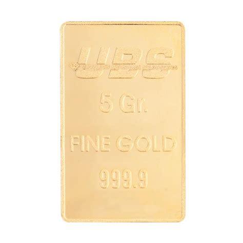 Emas Murni Ubs 0 5 Gram Kandungan 99 9 jual emas gold bar gloria ubs pt untung bersama sejahtera logam mulia 5 g harga