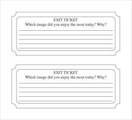 exit ticket template template design