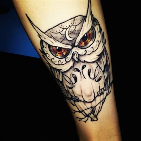 owl tattoo with green eyes 47 best owl tattoos of all time tattooblend