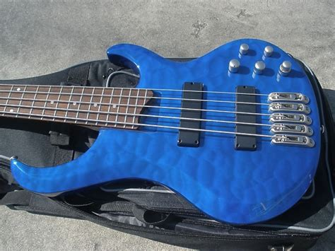 Blue Quilted Maple by 2003 Ibanez Btb405qm Bright Blue Quilted Maple 5