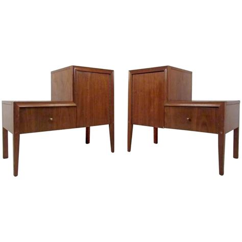 Unique Nightstands For Sale pair of unique mid century nightstands for sale at 1stdibs