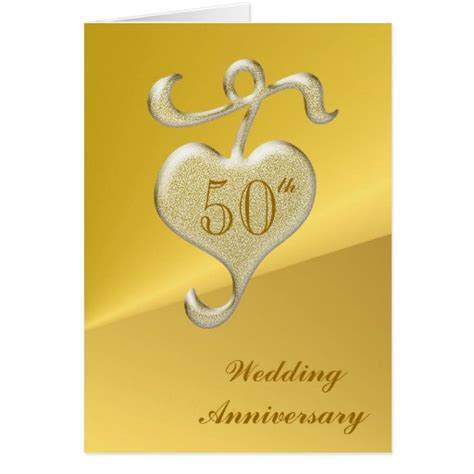 Golden Wedding Anniversary Cards Uk by Golden Wedding Anniversary Greeting Card Zazzle