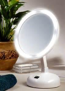 Floxite 10x Daylight Vanity Mirror 10x Daylight Fluorescent Lighted Makeup Mirror