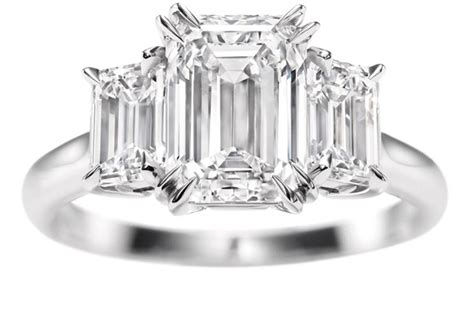 engagement ring emerald cut