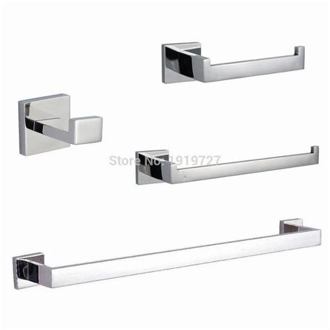 Stainless Steel 5 Piece Bathroom Accessories Kit Brushed Brushed Stainless Steel Bathroom Accessories