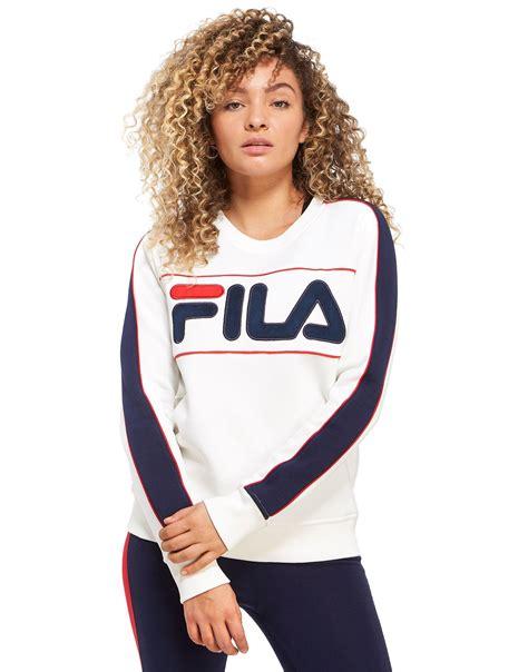 Sweater Hodie Logo Chelsea fila logo crew sweatshirt jd sports
