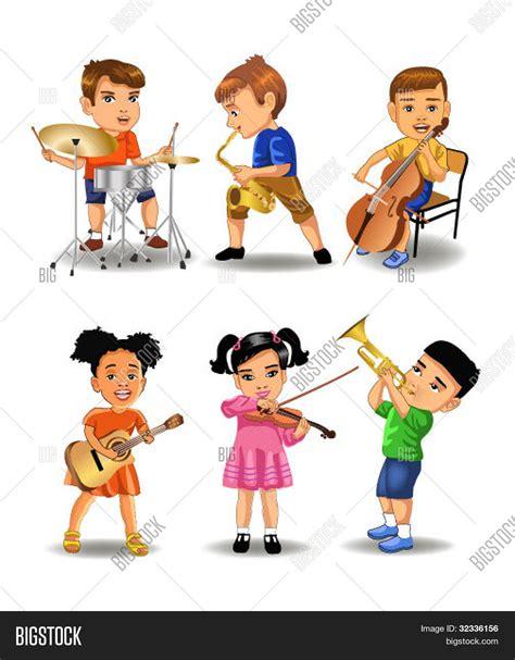 imagenes niños tocando instrumentos musicales vectores y fotos en stock de ni 241 os tocando instrumentos