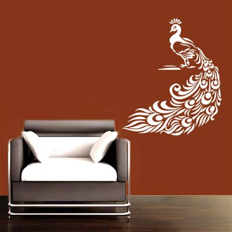 pretty wall stickers buy small pretty peacock wall decal birds and animal