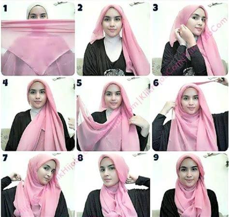 tutorial hijab jilbab segi empat cara memakai jilbab kreasi tutorial hijab segi empat terbaru