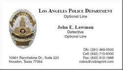 lapd business cards cobra printing productions lapd business cards