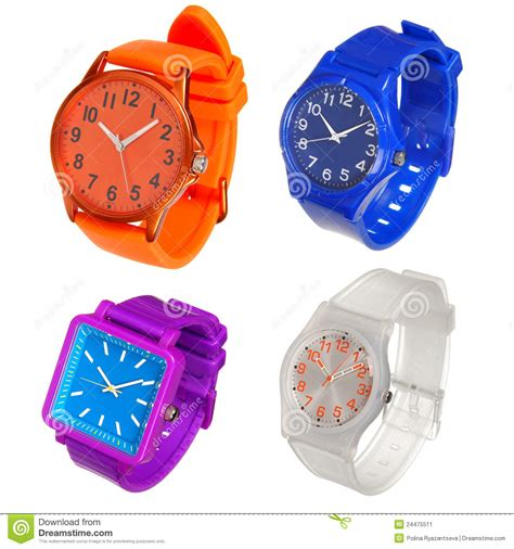 Colorful Set colorful set of plastic wrist watches stock image image 24475511